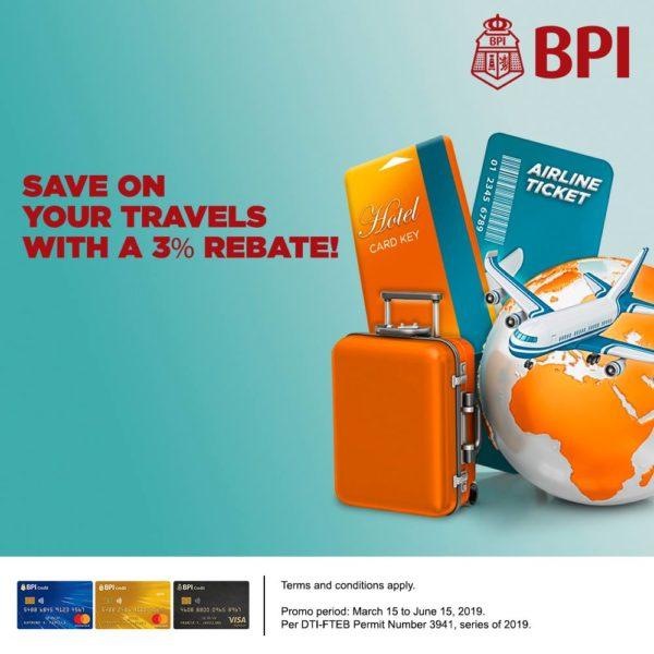 BPI Credit Card Promo 2019 Travel