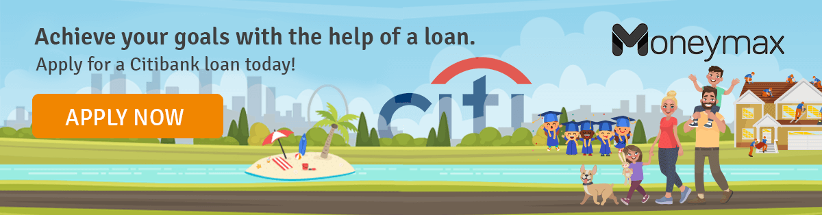 Apply for a Citibank loan at Moneymax.