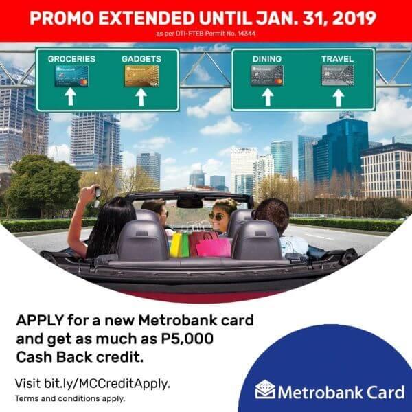 Metrobank Credit Card Promo 2019