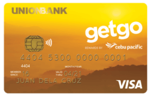 Best Air Miles Credit Cards Philippines - Unionbank Cebu Pacific GetGo