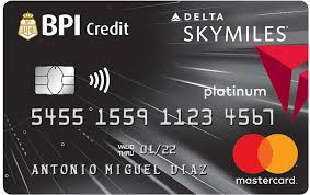 Best Air Miles Credit Cards Philippines - BPI SkyMiles Platinum Mastercard