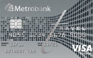 Best Air Miles Credit Cards Philippines - Metrobank Travel Platinum Visa