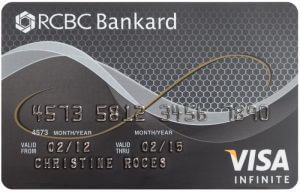 Best Air Miles Credit Cards Philippines - RCBC Bankard Visa Infinite