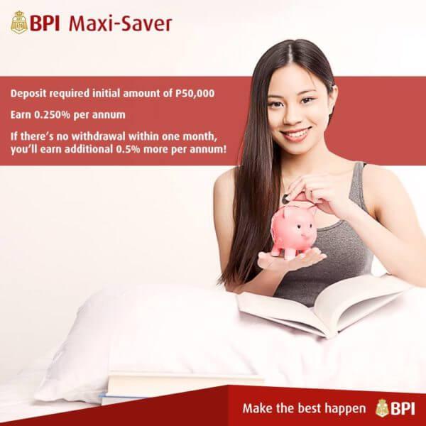 Savings Account with High Interest - BPI Maxi Saver