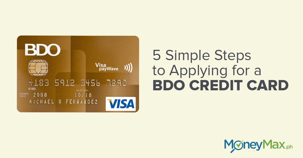 12 Simple Steps to Apply for BDO Credit Cards  MoneyMax.ph