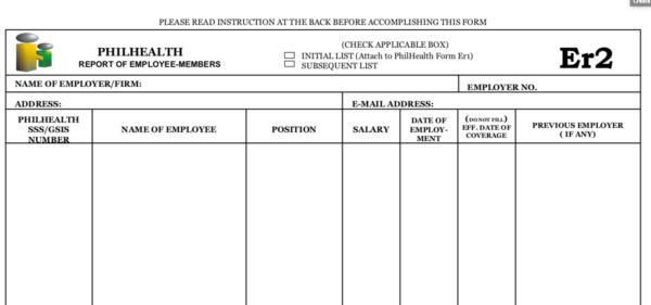 Employee Registration Philippines - PhilHealth