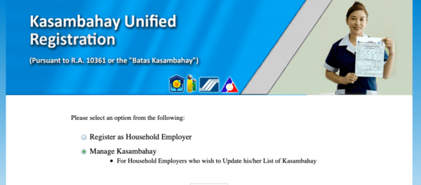 Employee Registration Philippines - Kasambahay Unified Registration
