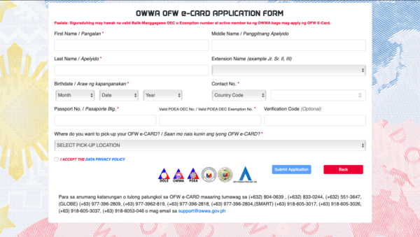 OFW ID Card Application