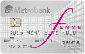 Best Credit Cards for Women Philippines - Metrobank Femme Signature Visa