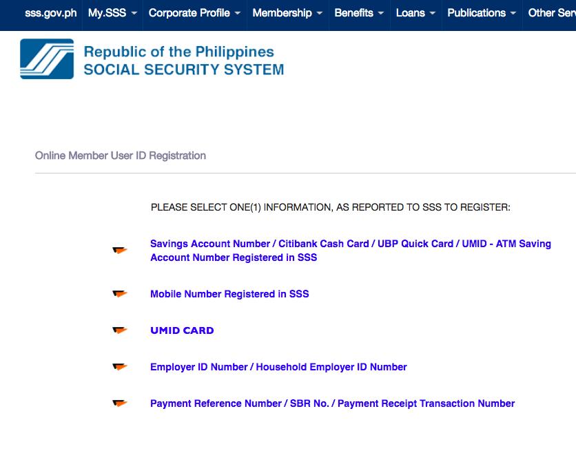 SSS Online Registration Portal