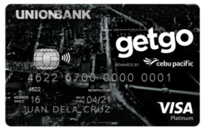Best Travel Credit Cards - UnionBank Cebu Pacific GetGo Platinum