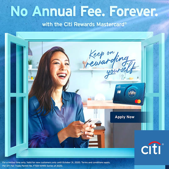 citibank credit card promo - no annual fees forever