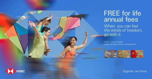 HSBC Credit Card Promo No Annual Fee for Life