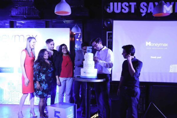 cake cutting for Moneymax 5th anniversary