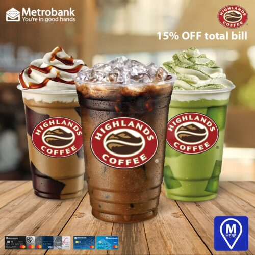 metrobank credit card promos - highlands coffee