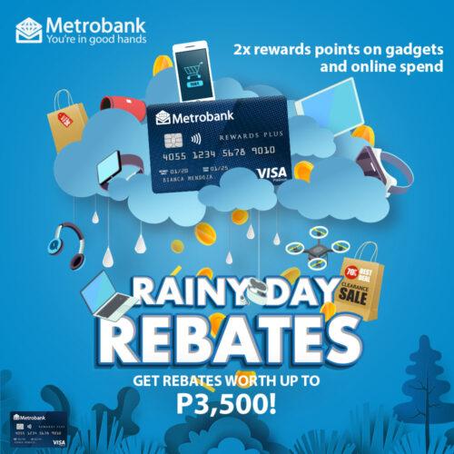 metrobank credit card promos - rainy day promo