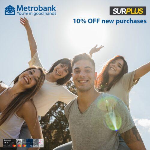 metrobank credit card promos - surplus