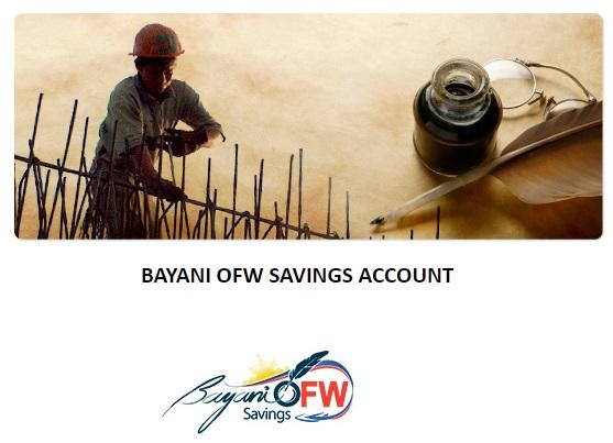 Savings Accounts with Low Maintaining Balance - Sterling Bank Bayani OFW Savings