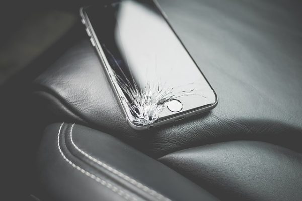 Damaged Phone Causes - Sitting on the Phone