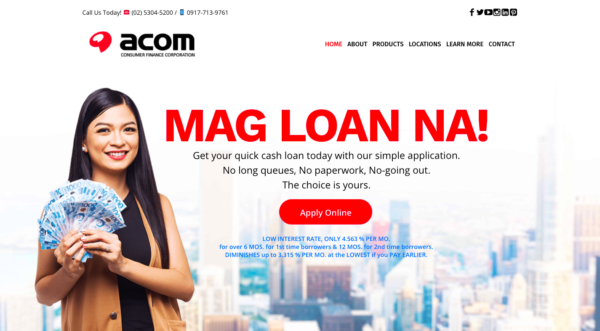 Online Loans in the Philippines - ACOM Quick Cash Loans