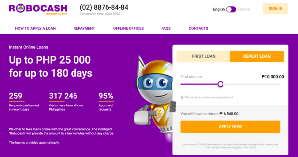 Online Loans in the Philippines - Robocash Instant Loans