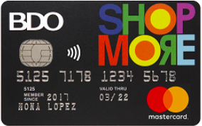 Best Credit Cards for Shopping - BDO ShopMore Mastercard