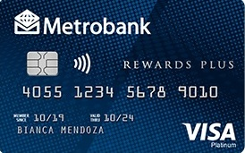 Rewards Credit Cards - Metrobank Rewards Plus Visa