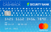 Best Credit Cards in the Philippines - Security Bank Complete Cashback Mastercard