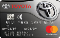 Best Credit Cards in the Philippines - Toyota Mastercard