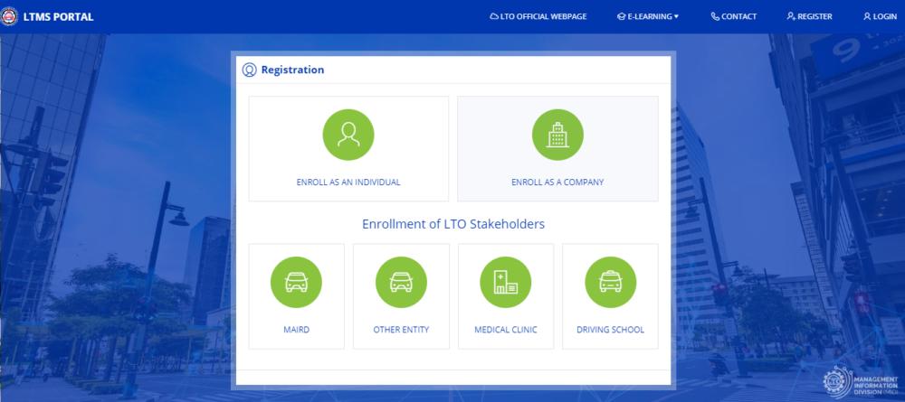 LTO Online Registration Web Portal