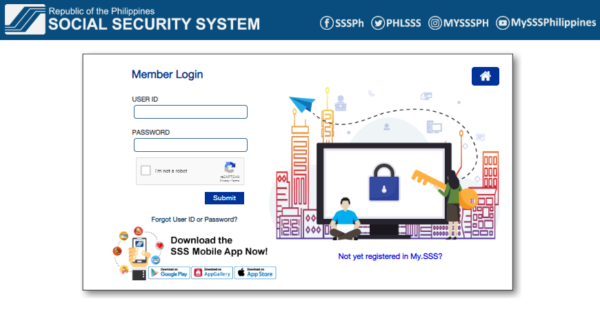 SSS Online Registration - How to Change Password SSS Online