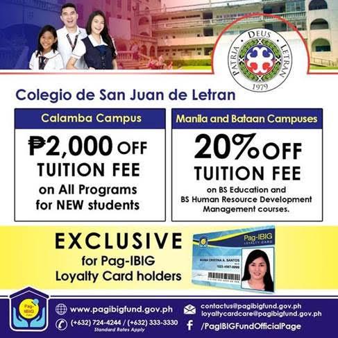 Pag-IBIG Loyalty Card - Colegio de San Juan de Letran