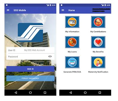SSS Contributions Online - SSS Mobile App