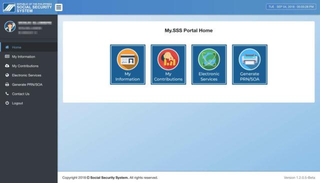 SSS Contribution Online - Member Portal