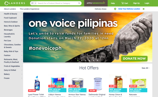 Online Grocery Delivery in the Philippines - Landers