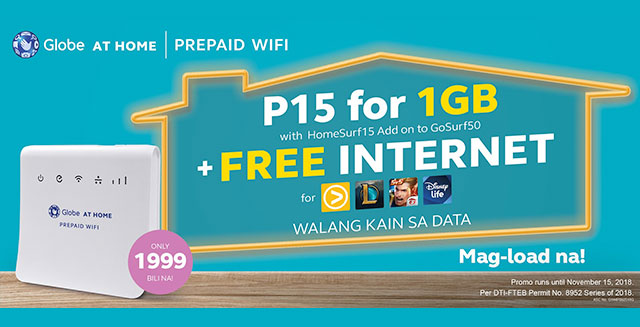 Prepaid WiFi - Globe at Home Prepaid WiFi
