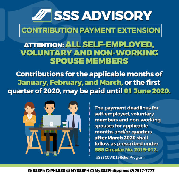 COVID-19 Government Assistance - SSS Payment Deadline Extensions