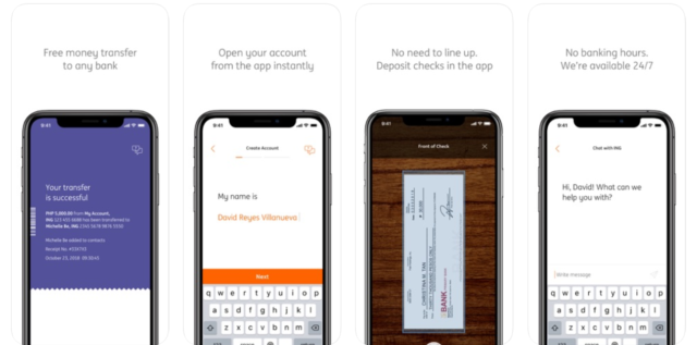 Online Banking Account - ING app features