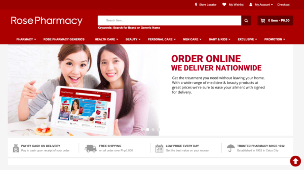 Online Drugstores in the Philippines - Rose Pharmacy Online