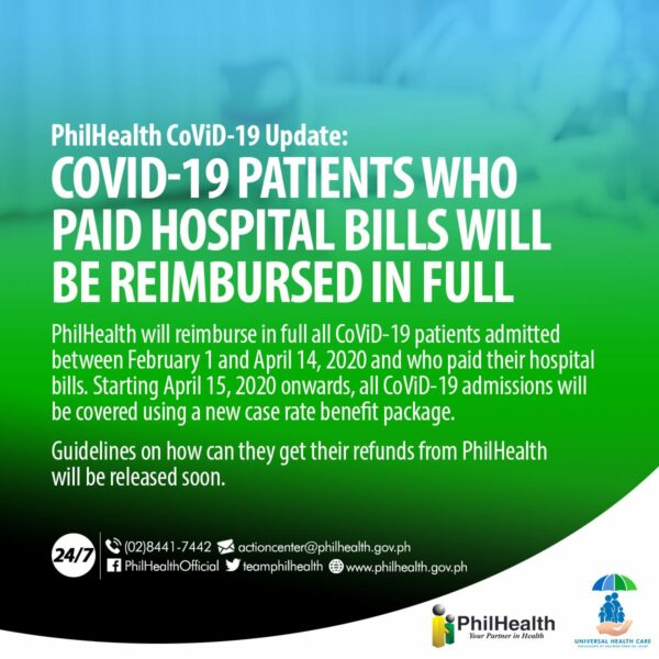 Coronavirus Cost in the Philippines - PhilHealth Coverage