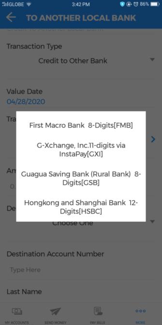 BDO Online Banking Guide - BDO Online Banking to GCash
