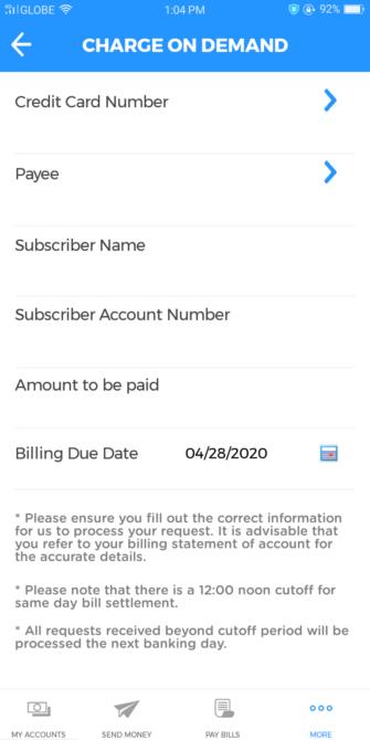 BDO Online Banking Guide - Pay Bills via Credit Card