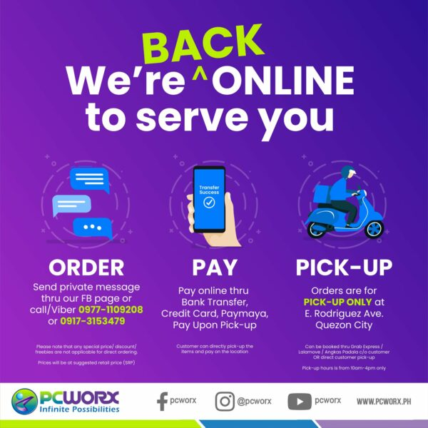 Online Gadget Stores Operating During ECQ - PC Worx