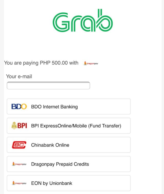 GrabPay - Online Banking