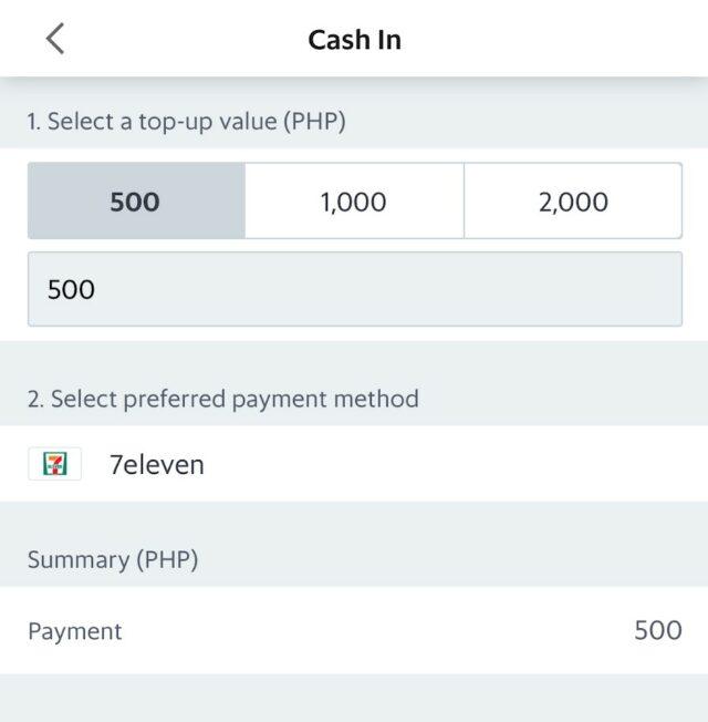 GrabPay - Store cash-in