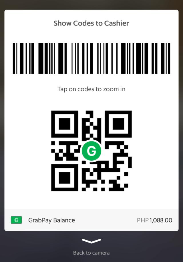 GrabPay - QR code and barcode