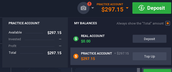 IQ Option for Beginners - Practice Account vs Real Account