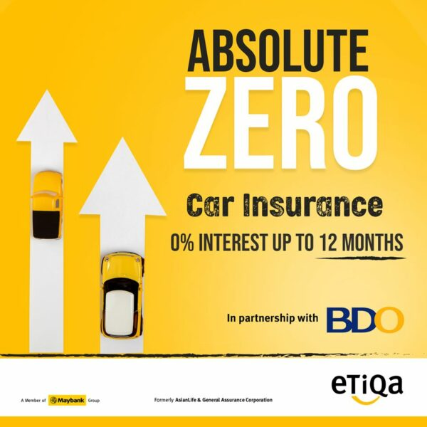 Etiqa Car Insurance Philippines - 0% Interest for BDO and Maybank