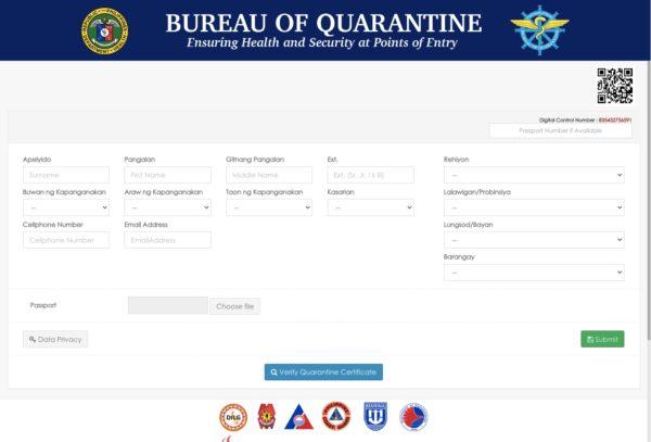 OFW Repatriation Guide - Quarantine Certificate