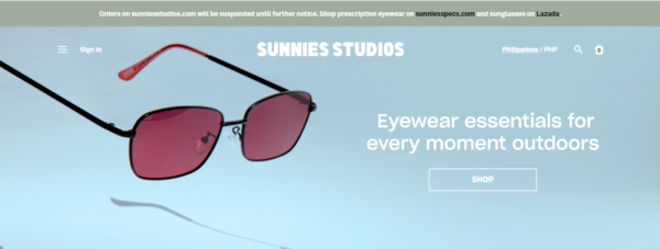 Online Shopping Sites Philippines - Sunnies Studios